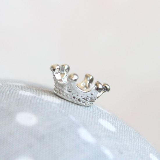 Кукольный аксессуар - Корона миниатюрная серебряная 1,2 см.