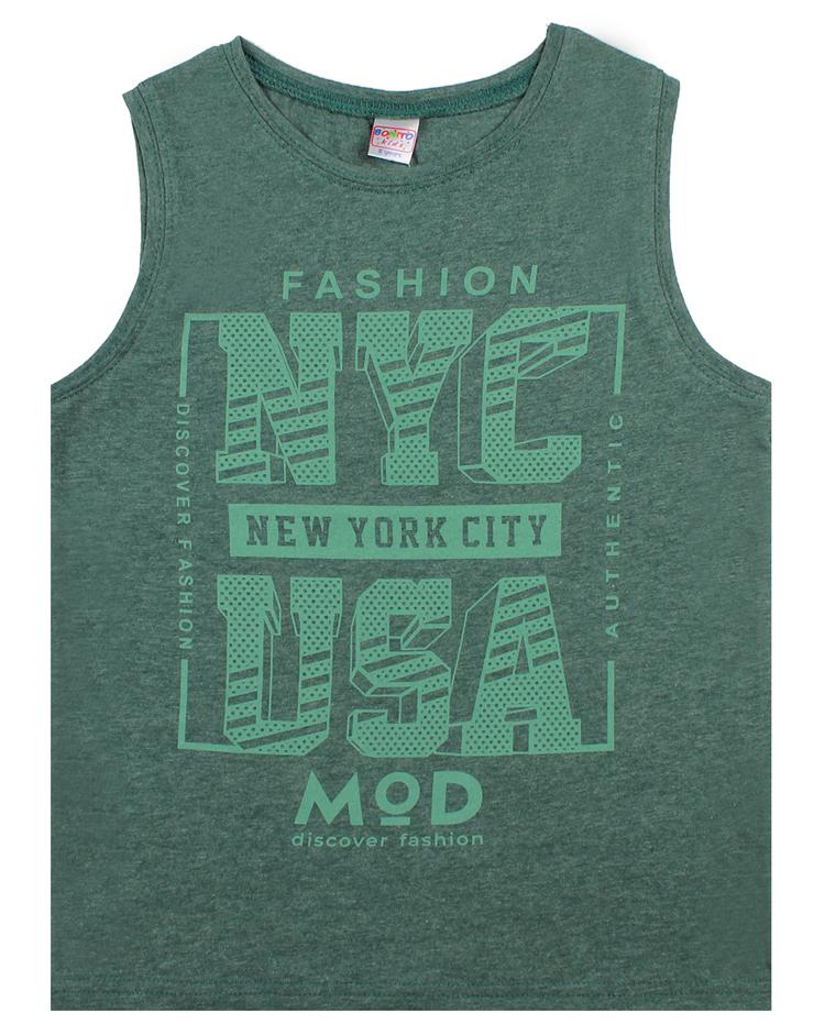"Майка для мальчиков Bonito ""Urban style"" зеленый"