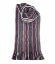 модный вязаный шотландский  шарф  Ребекка REBECCA FAITH WOOL/ANGORA KNITTED SCARF, плотность 7