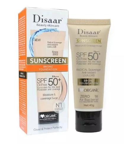 Тональный - солнцезащитный крем для лица Disaar SUNSCREEN BRONZ FOUNDATION SPF 50 PA+++(7120)