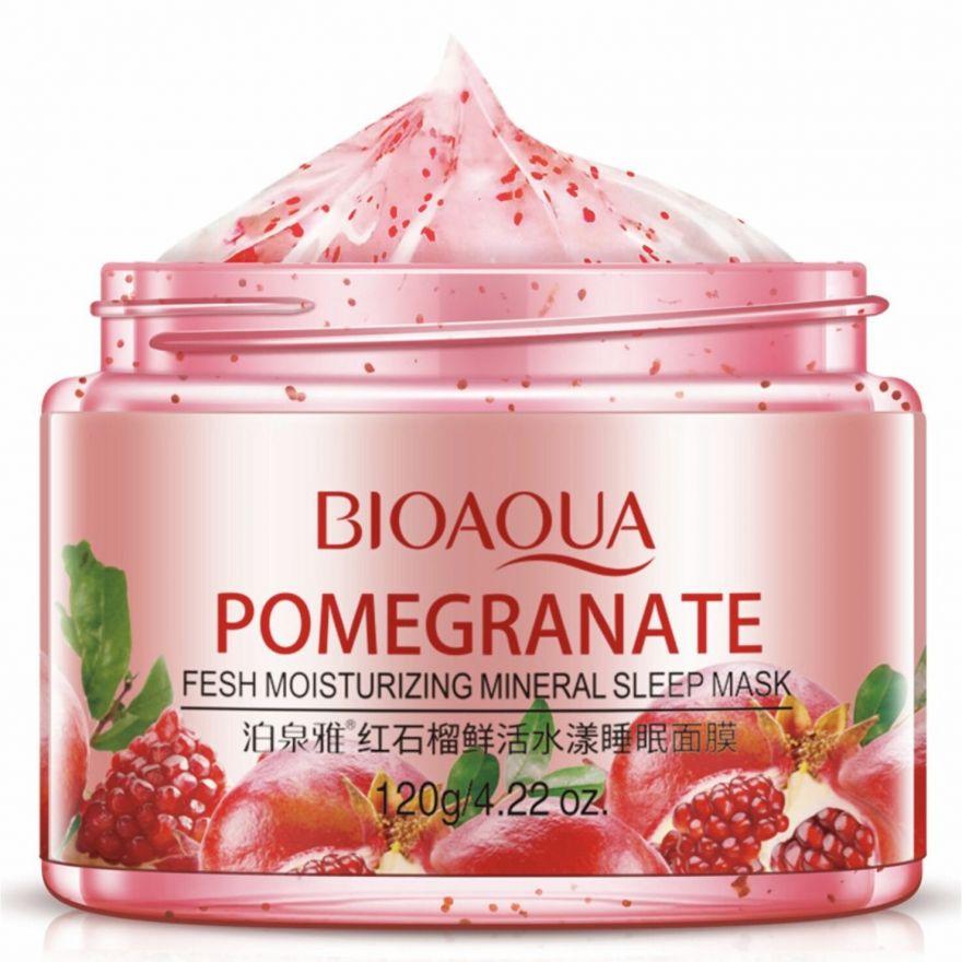 Ночная маска для лица с гранатом BIOAQUA Pomegranate (7150)