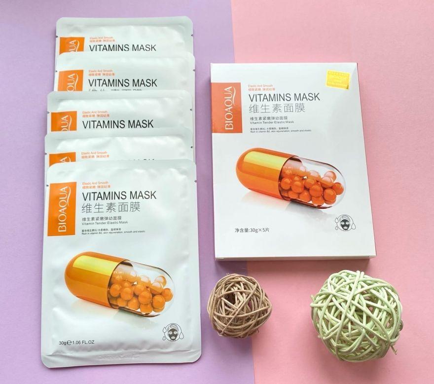 Маска для лица Bioaqua Vitamin Витамин В2 Tender Elastic Mask