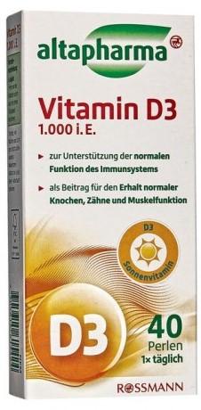 Витамины Altapharma (витамин D3) 1000I.E. 40шт