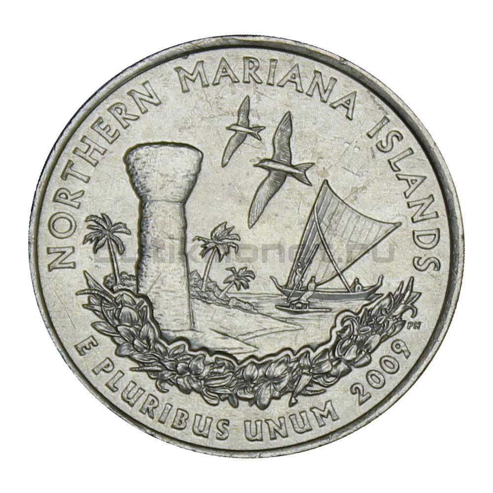 25 центов 2009 США Северные Марианские острова P (Штаты и территории США)