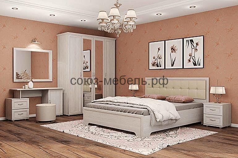 Спальня Классика (стол СТ+шкаф 4-х ШК-4+тумба ТМ 2 шт+кровать КР+тумба ТБ)