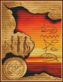 "Cross stitch pattern ""Egypt""."