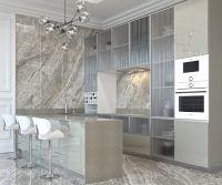 Кухня Gloss Stretto Silver