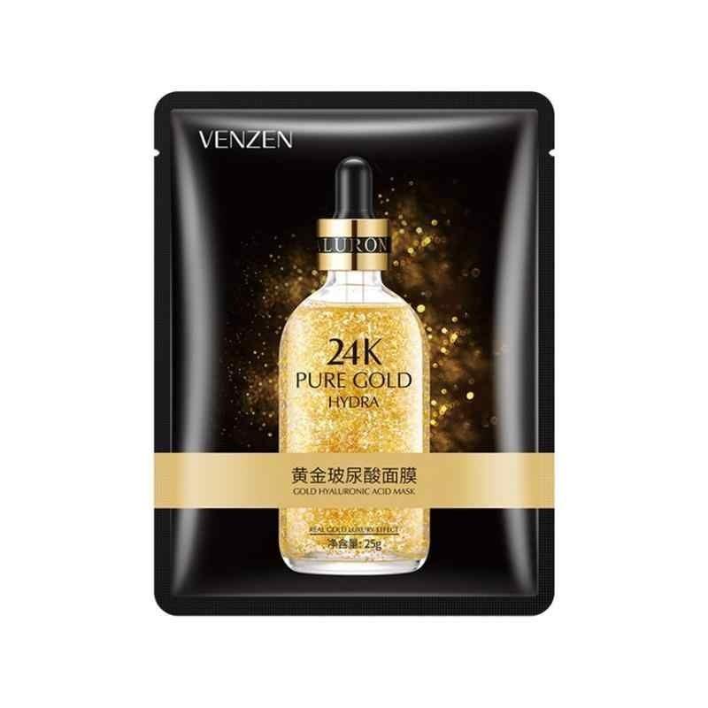 Ультра питательная тканевая маска с гиалуроновой кислотой 24K Gold VENZEN