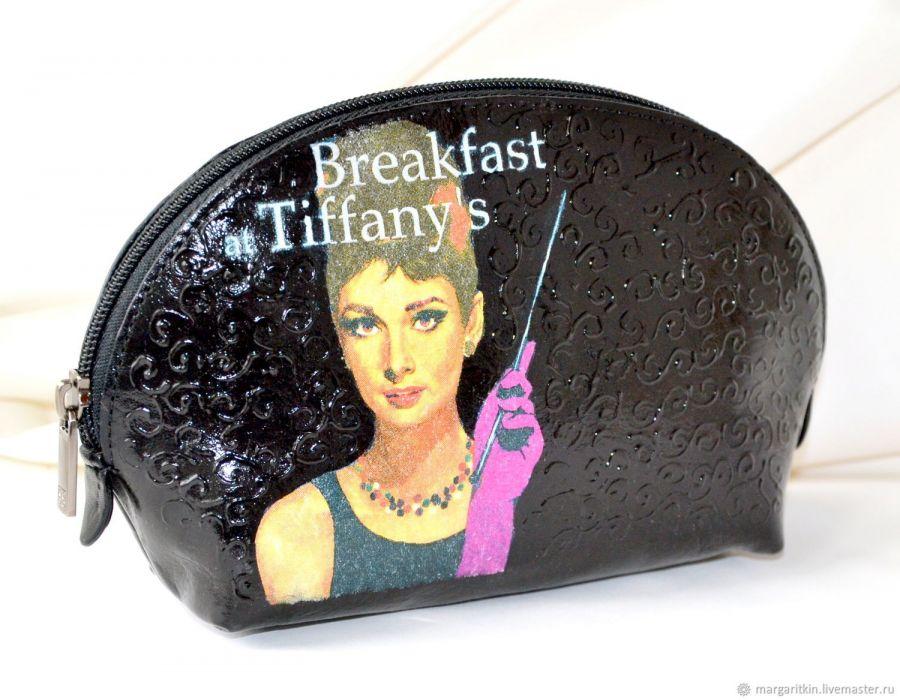 Косметичка кожаная Завтрак у Тиффани