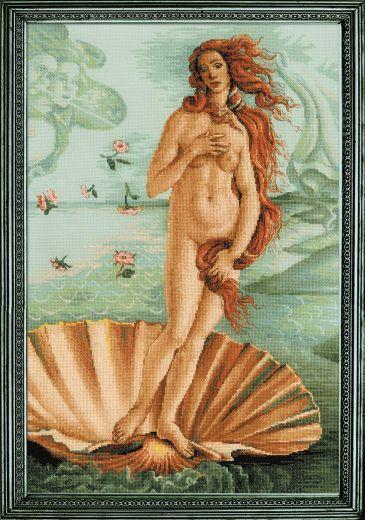 Набор для вышивания крестом Рождение Венеры 100/062 фирма Риолис