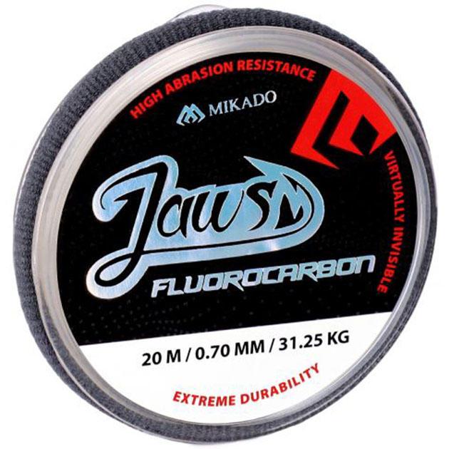 Леска Mikado FLUOROCARBON JAWS 20м прозрачная ZFLJ01-20 100% флюорокарбон