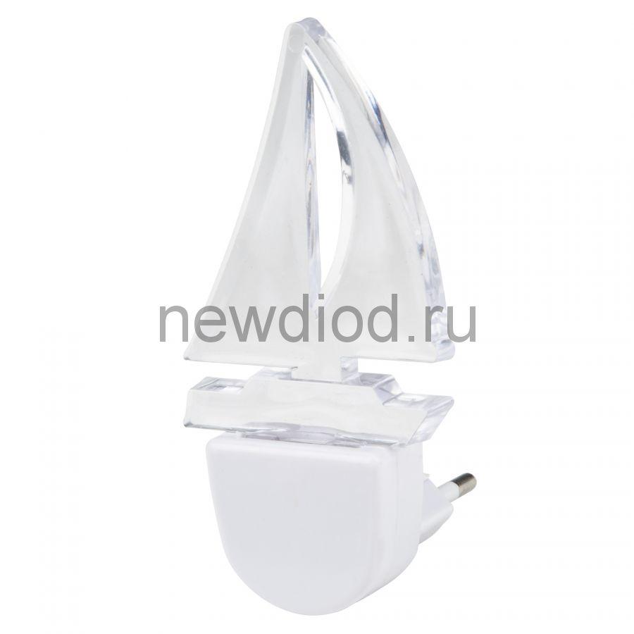 Светильник-ночник Кораблик/White DTL-315 без выключателя белый ТМ Uniel