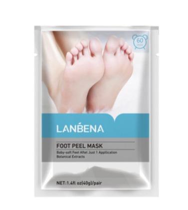 Lanbena Lavender foot peel mask - Маска-носки для ног отшелушивающая(НОВАЯ УПАКОВКА).(0250)