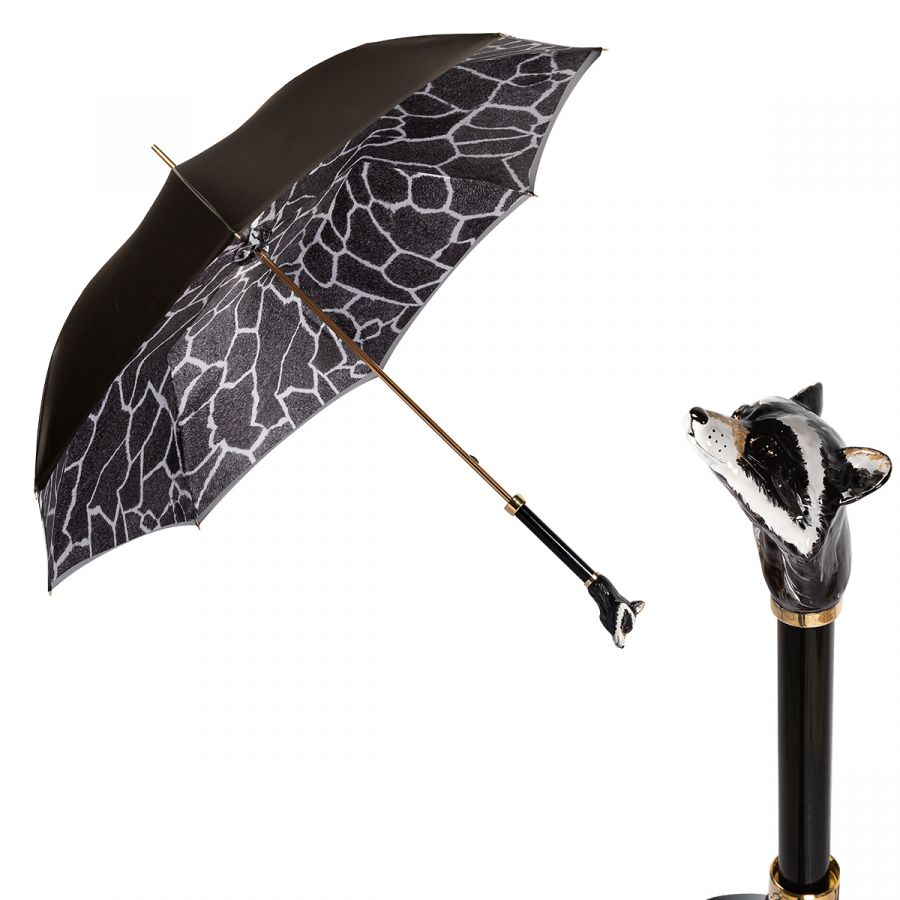 Зонт-трость Pasotti Becolore Beige Procione Lux