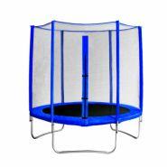 "Батут с защитной сеткой ""Trampoline 8"" диаметр 2,4 м синий"