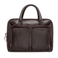 Кожаная мужская деловая сумка Lakestone Raynes Brown