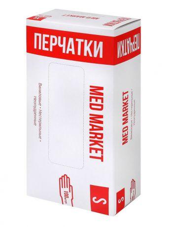 Перчатки виниловые Мед Маркет, 50 пар