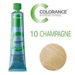 Goldwell Colorance Express Toning 10 CHAMPAGNE - Тонирующая крем-краска Шампань блонд 60 мл