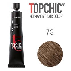 Goldwell Topchic 7G - Стойкая краска для волос - Блондин золотистый (Лесной орех) 60 мл.