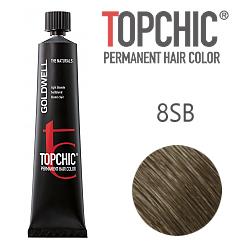 Goldwell Topchic 8SB - Стойкая краска для волос - Серебристый блондин 60 мл.