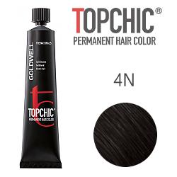 Goldwell Topchic 4N - Стойкая краска для волос - Средне-коричневый 60 мл.