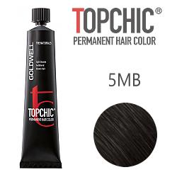 Goldwell Topchic 5MB - Стойкая краска для волос - Светлый коричневый матовый 60 мл.