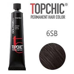 Goldwell Topchic 6SB - Стойкая краска для волос - Темный русый серебристо-бежевый 60 мл.