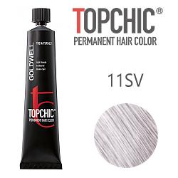 Goldwell Topchic 11SV - Стойкая краска для волос - Серебристо-фиолетовый блондин 60 мл.