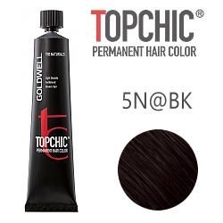 Goldwell Topchic 5N@BK - Стойкая краска для волос Cветло-коричневый с медным сиянием 60 мл