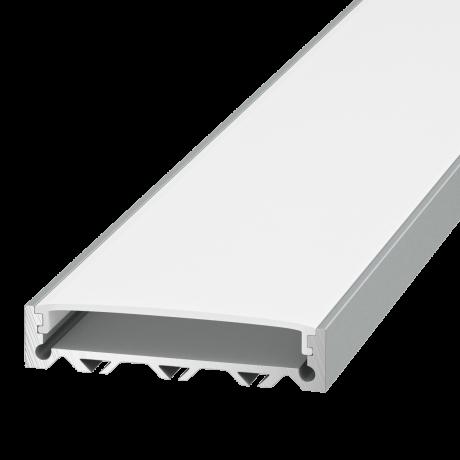 Плоский алюминиевый профиль для ленты