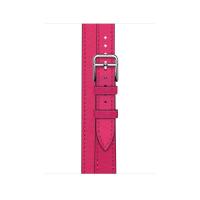 Ремешок Apple Watch Hermès Rose Mexico Swift Leather Attelage Double Tour из кожи (для корпуса 40 мм)