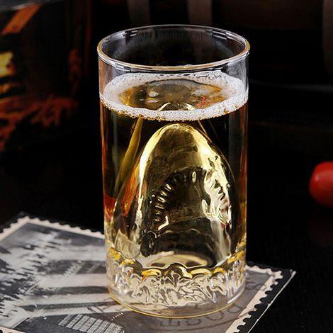 Бокал двойное стекло Акула