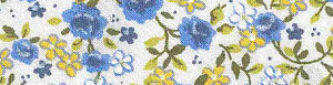 фото Косая бейка SAFISA SPIRAL с рисунком Цветочки, 20 мм 6452-20-02