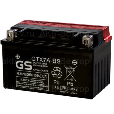 YUASA AGM YTX7A-BS (6Ач) 105А (AGM) не активирован