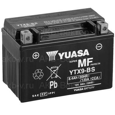 YUASA AGM YTX9-BS (6Ач) 135А (AGM)