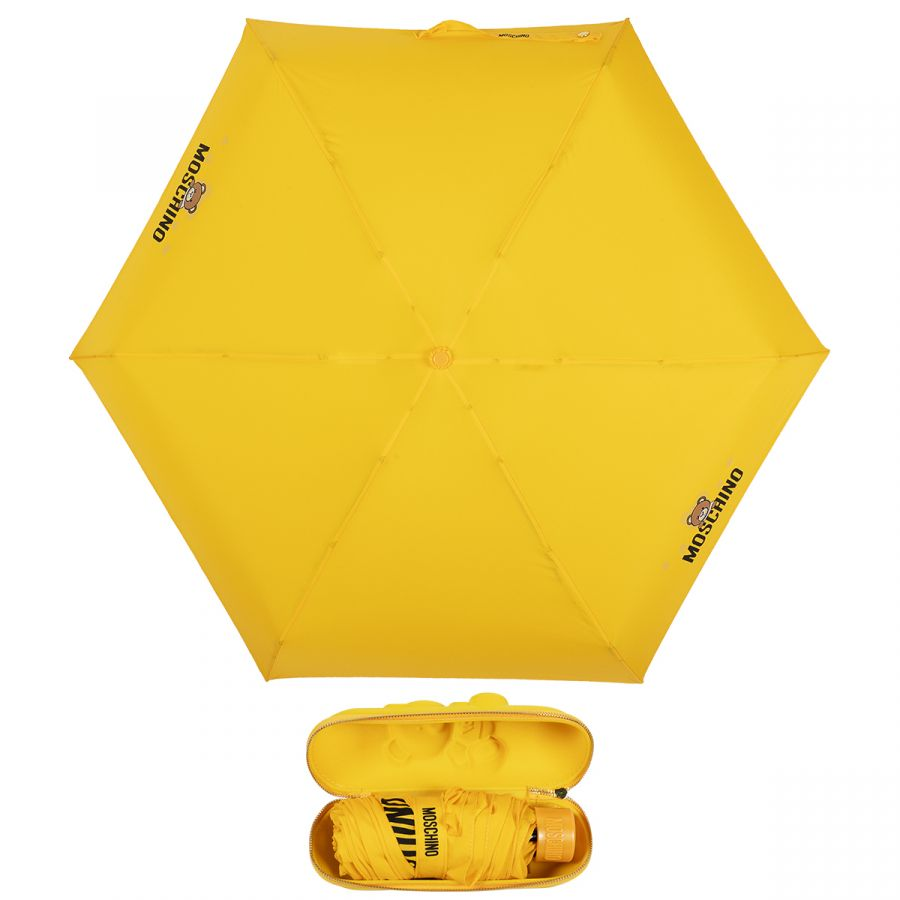 Зонт складной Moschino 8042-superminiU Shadow Bear Yellow