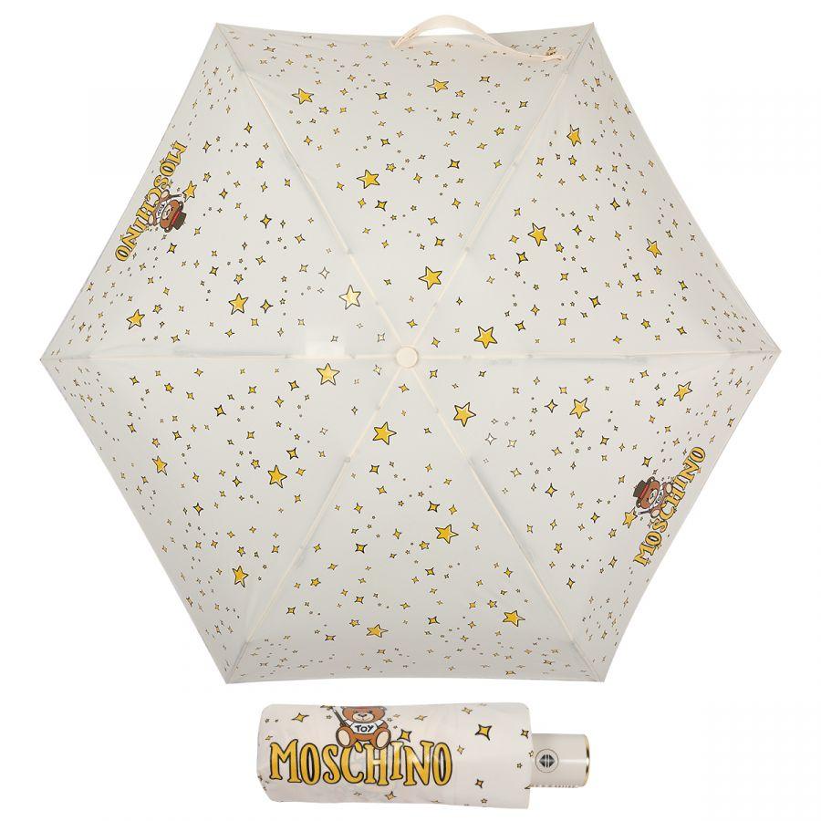 Зонт складной Moschino 8323-compactI Toy Constellation Cream