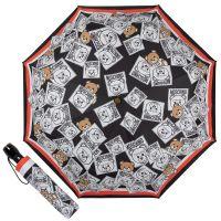 Зонт складной Moschino 8056-OCA Bear Couture Black multi