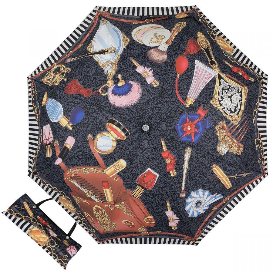 Зонт складной Moschino 7942-OCA Make up Black