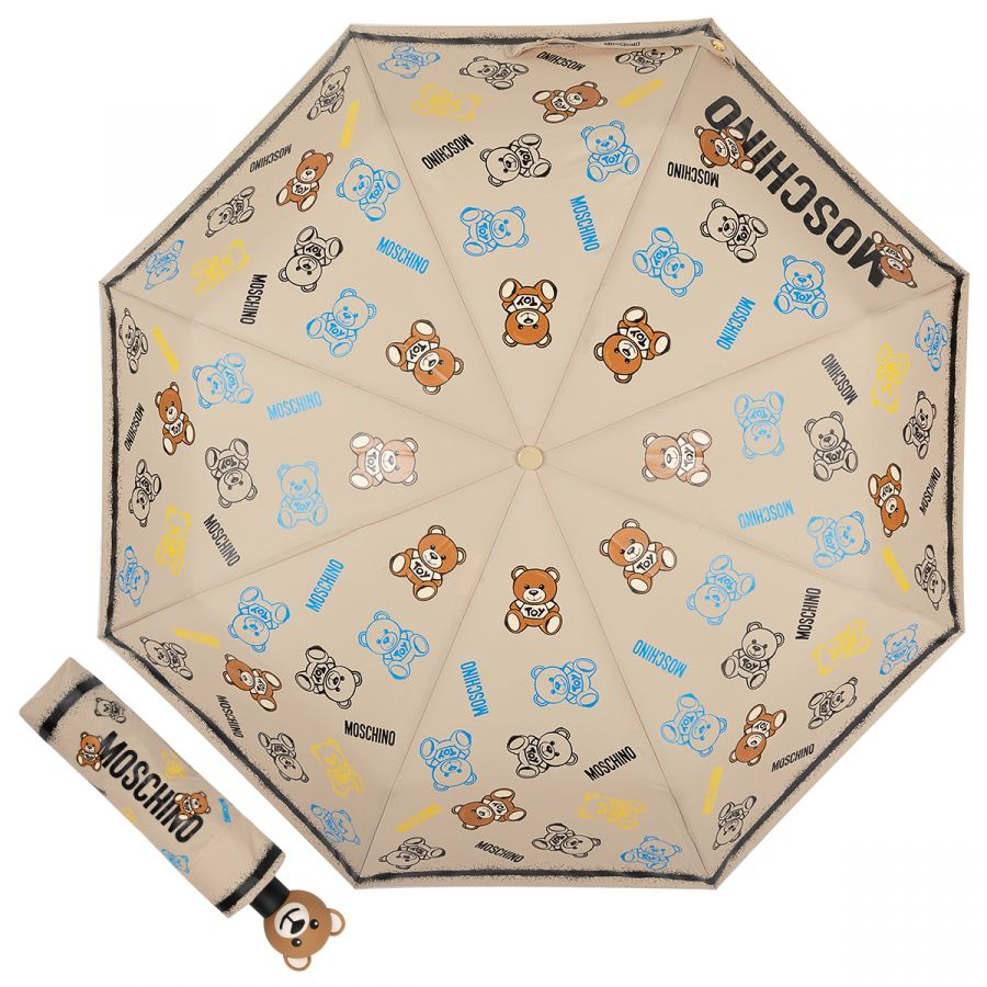 Зонт складной Moschino 8033-OCD Toy Spray Dark beige