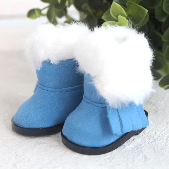 Обувь для кукол - Сапожки угги голубые на замочке, 5,5 см.