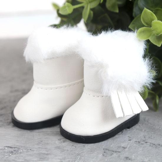 Обувь для кукол - Сапожки угги белые на замочке, 5,5 см.
