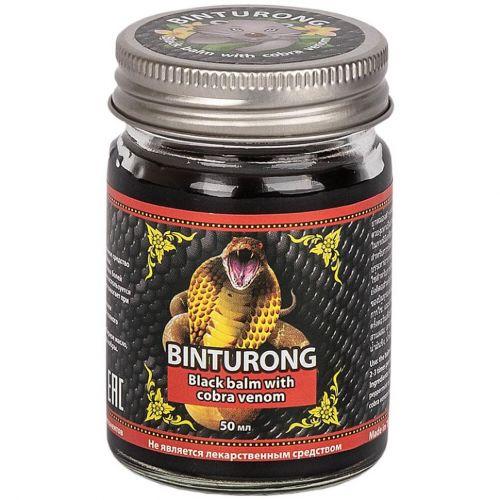 Бальзам черный для тела с ядом кобры | Black Balm with Cobra Venom | 50 г | Binturong