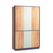 Шкаф NOCCE модульный 3-дверный орех/антрацит
