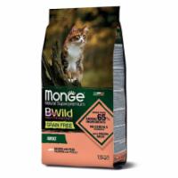 Сухой корм для кошек Monge BWILD Feed the Instinct беззерновой с лососем и горошком 1.5 кг