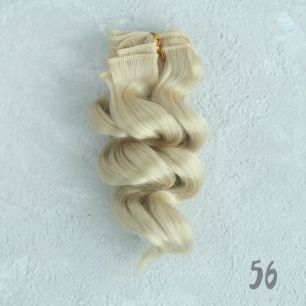 Трессы для создания причеcки куклам - Двойной завиток 15 СМ медовый блонд