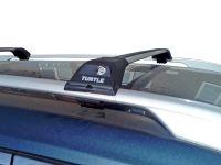 Багажник Turtle Tourmaline V1 на Nissan X-Trail T32, серебристый на рейлинги, производство Turtle (Турция)