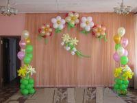 Оформление из шаров на выпускной в детском саду 12