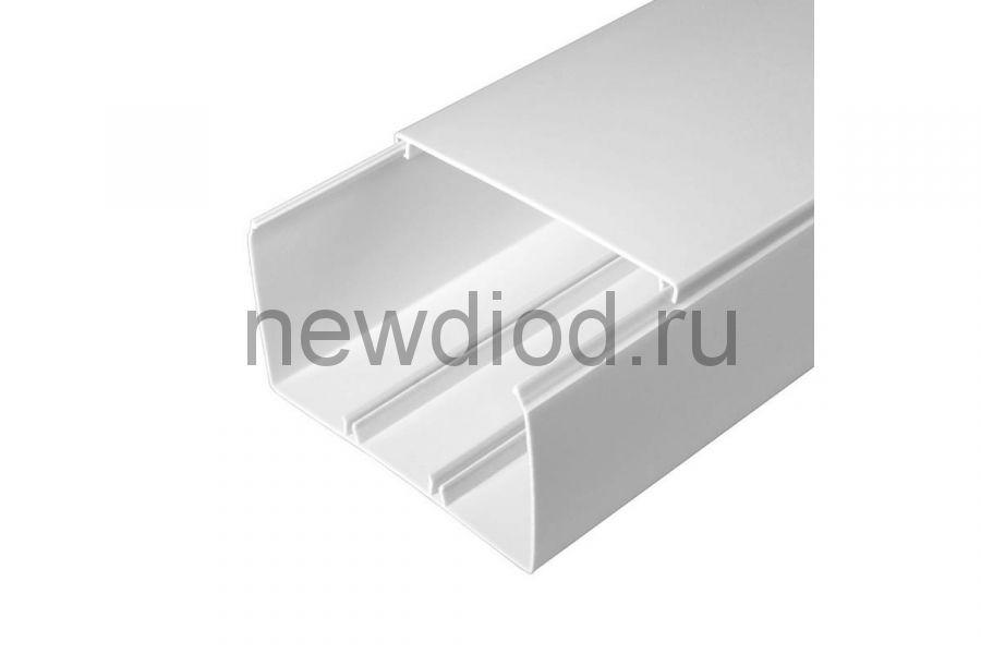 Кабель-канал белый 2-й замок в п/э 100х60 (16м/уп) Промрукав