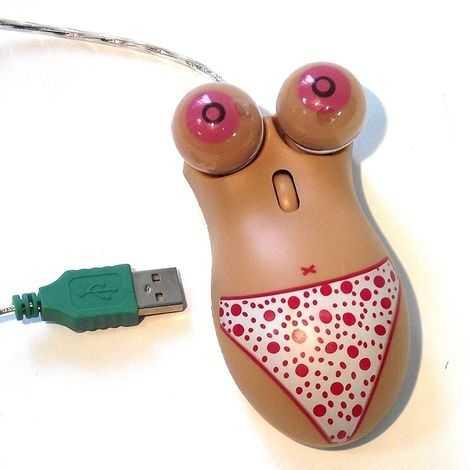 Женский торс мышь для компьютера